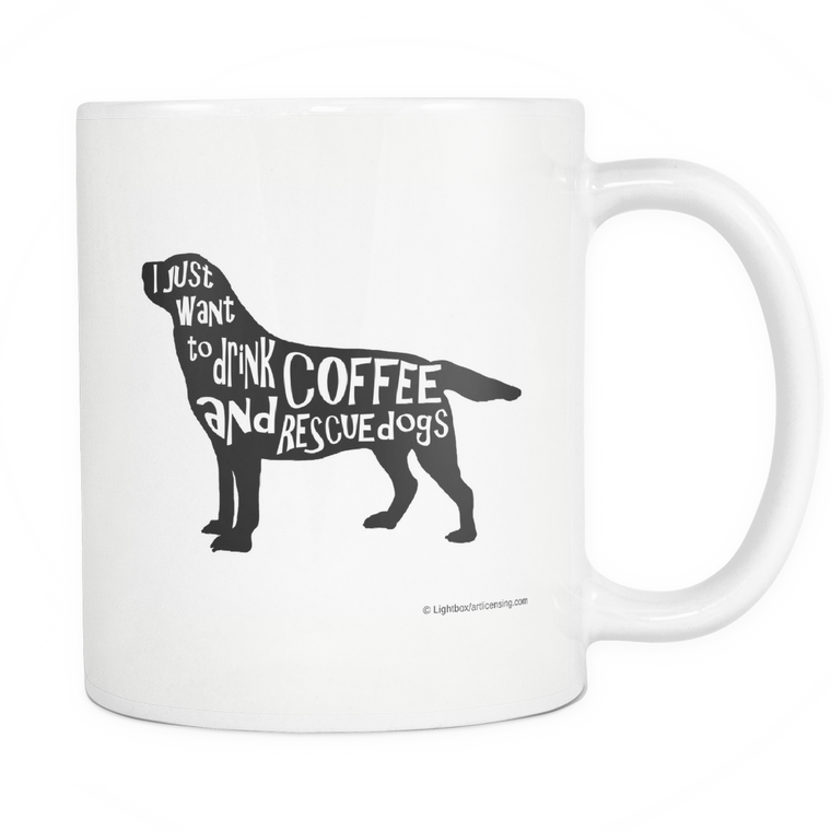 11oz Rescue Dog and Drink Coffee Mug.