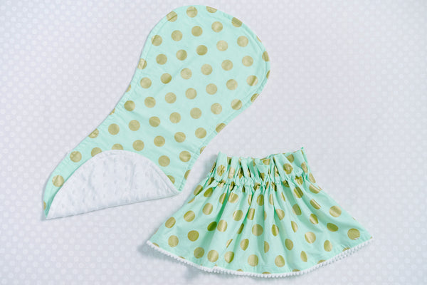 BURP CLOTH – Spring Peppermint