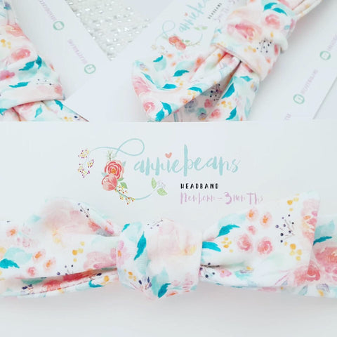 HEADBAND (NB to 3mths) - Plush Florals