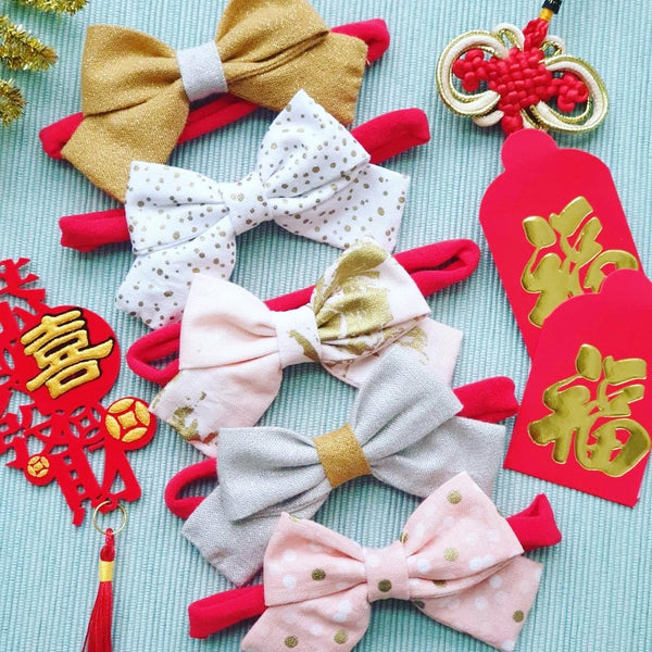 Nylon BOW Headband - Confetti
