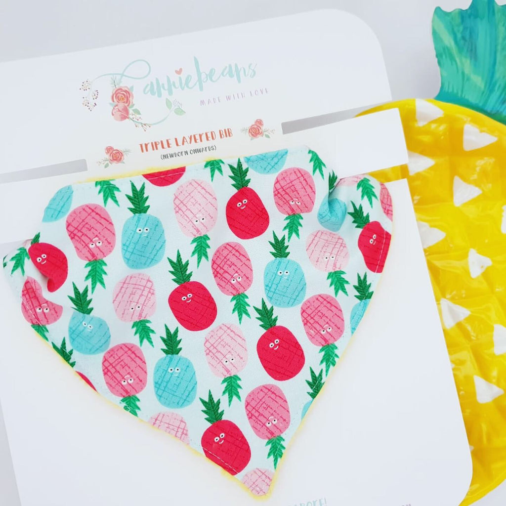 BIB (bandana) - cheeky PINEAPPLES!