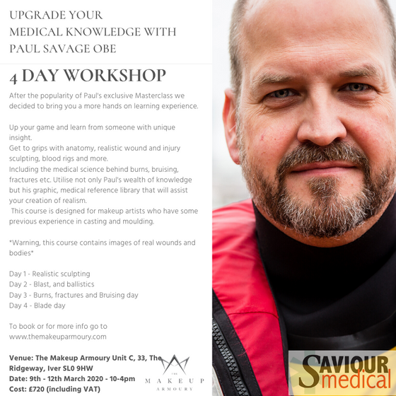 4 day Workshop with Paul Savage OBE