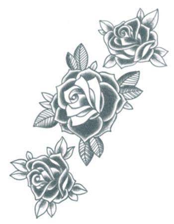 Tattooed Now! Three Black Roses