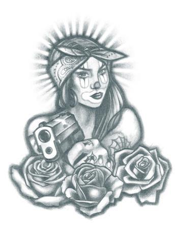 Tattooed Now! Clown Gangster Girl