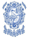 Tattooed Now! Temporary Tattoo Delft Birds and Flowers - Set 02 - The Makeup Armoury
