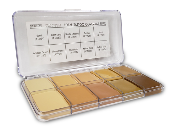 Jordane Cosmetics - Total Tattoo Cover Palette Desert Yellow
