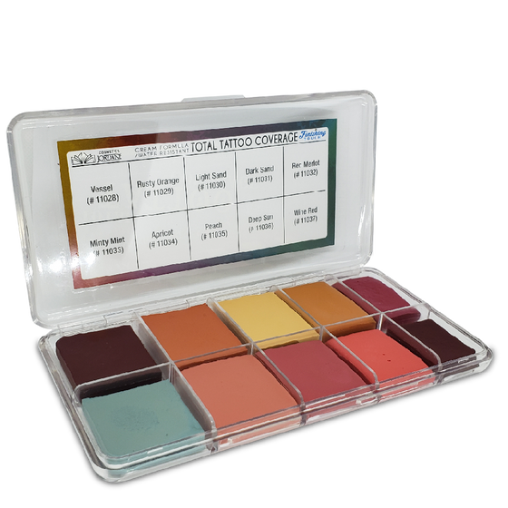 Jordane Cosmetics - Total Tattoo Cover Palette Finishing Touch