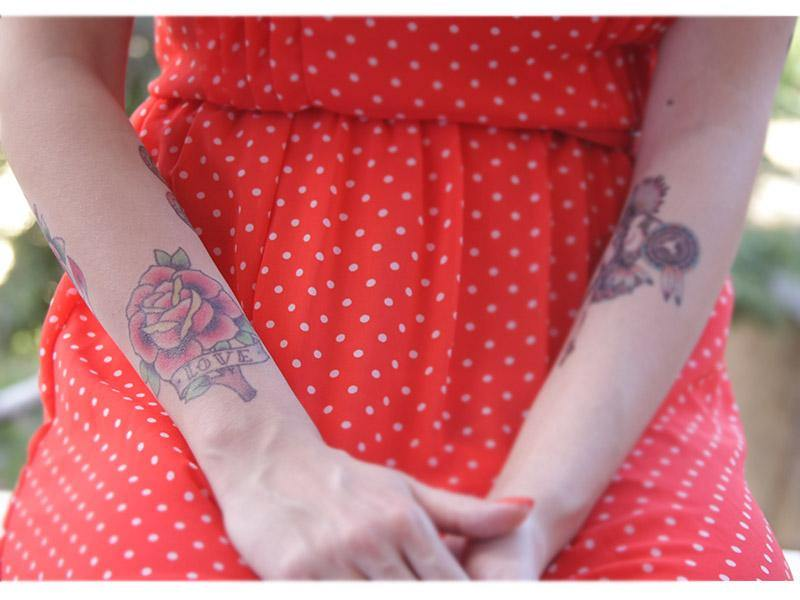d1e9f3e66 Tattooed Now! Temporary Tattoo vintage Red Love Rose - The Makeup ...