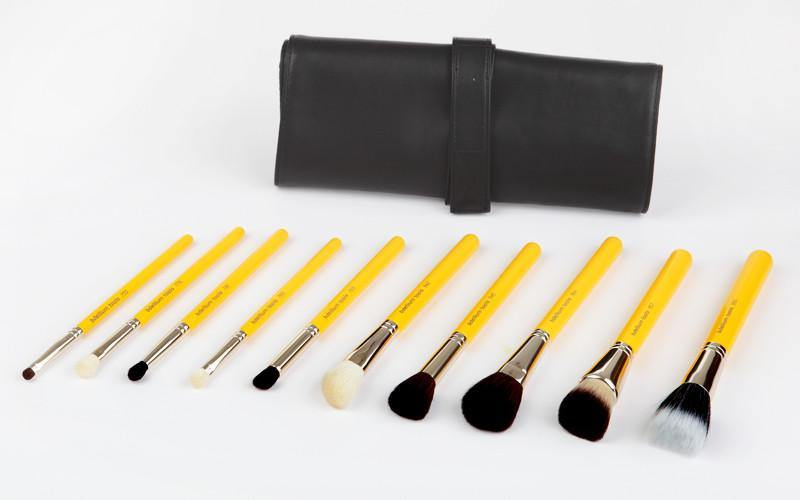 Bdellium Studio Mineral 10pc Brush Set with Roll-up Pouch