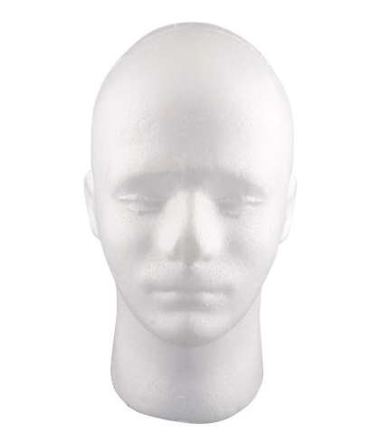 Male Styrofoam Mannequin Head