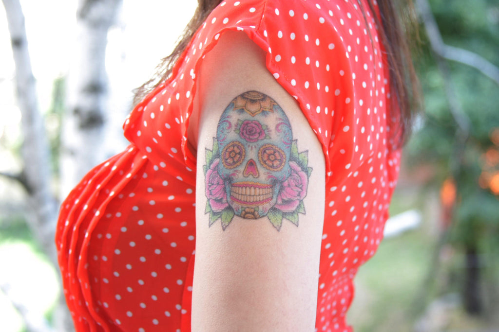 Tattooed Now! Temporary Tattoo Sugar Skull