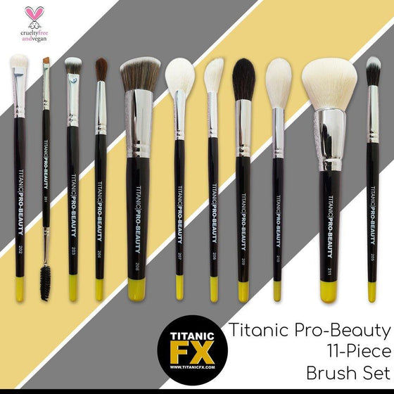 Titanic FX Pro-Beauty Brush 11-Piece Complete Brush Set