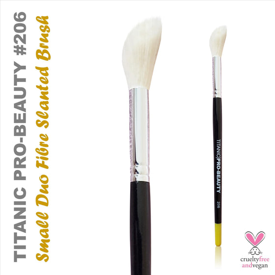 Titanic FX Pro-Beauty 206 - Slanted Duo-Fibre Stippler Brush