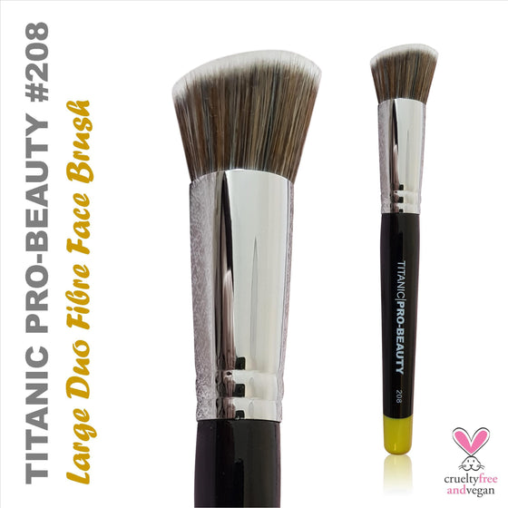 Titanic FX Pro-Beauty 208 - Large Duo-Fibre Face Blender Brush
