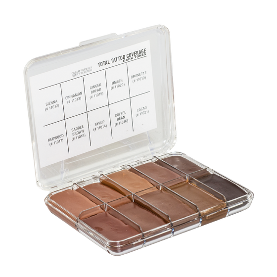 Jordane Cosmetics - MINI Total Tattoo Cover Palette Dark Fleshtone