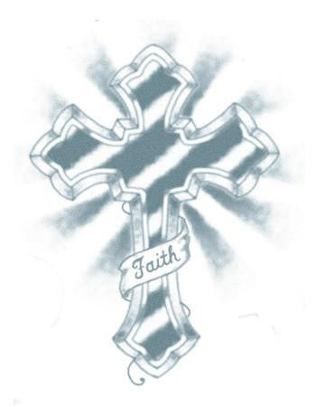 Tattooed Now! Temporary Tattoo Large Cross (Faith)