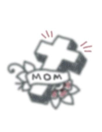 Tattooed Now! Temporary Tattoo Vintage Cross Mom