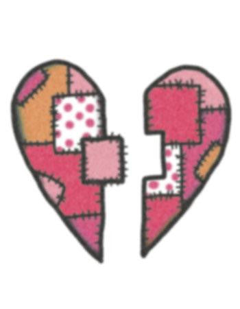 Tattooed Now! Temporary Tattoo Patchwork Heart