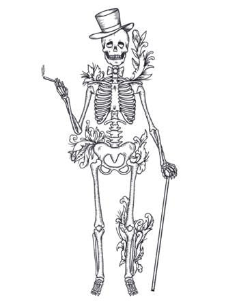 Tattooed Now! Dandy Skeleton