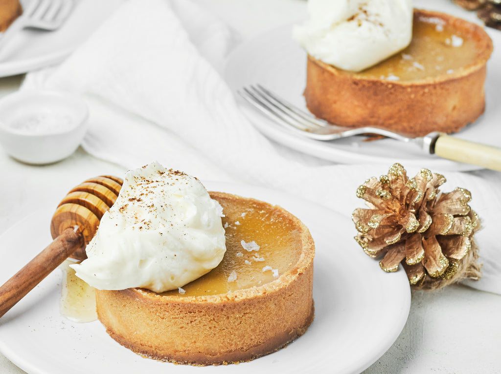 Honey & Muscovado Tartlets with Vanilla Mascarpone Cream