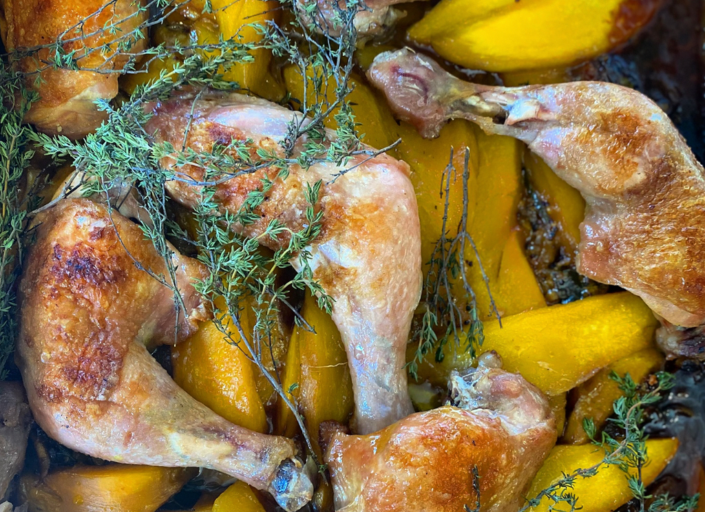 Travels in Honey: Slow cooked Chicken with Mango