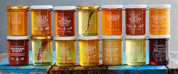 Raw honey jars British honey