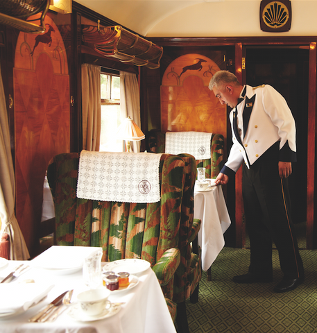 he British Pullman is helping to keep craftsmanship and heritage alive. The intricate wood panelling that decorates the walls is the work of Cheryl Dunn.