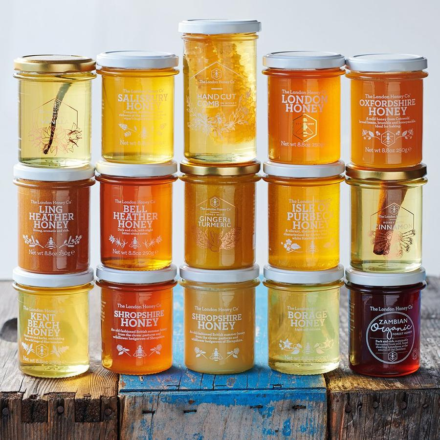 pure natural honey jars british organic
