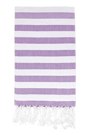 Awning Stripe Peshtemal in Lavender from Olive and Loom
