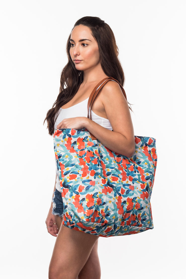 Beach Bag with Floral print from Olive & Loom