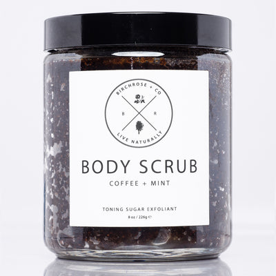 Coffee + Mint Body Scrub from Birchrose + Co