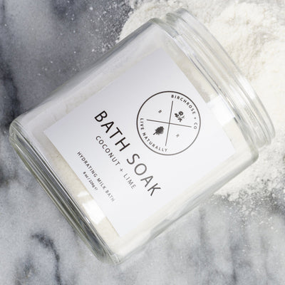 Coconut + Lime Milk Bath Soak from Birchrose + Co