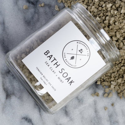 Sea CLay + Mint Bath Soak from Birchrose + Co