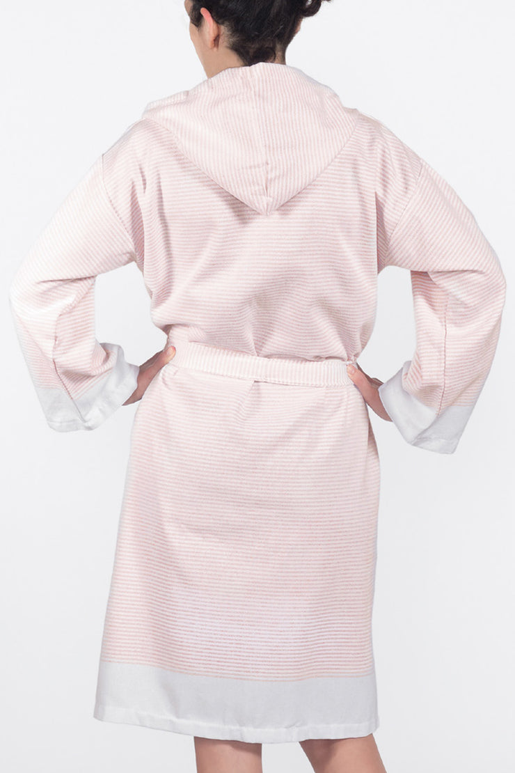 Coral Candy Stripe Spa Robe from Olive & Loom