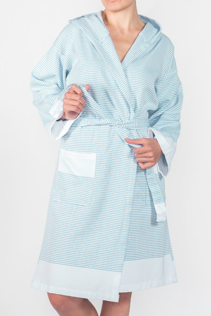 Mint Candy Stripe Spa Robe from Olive & Loom