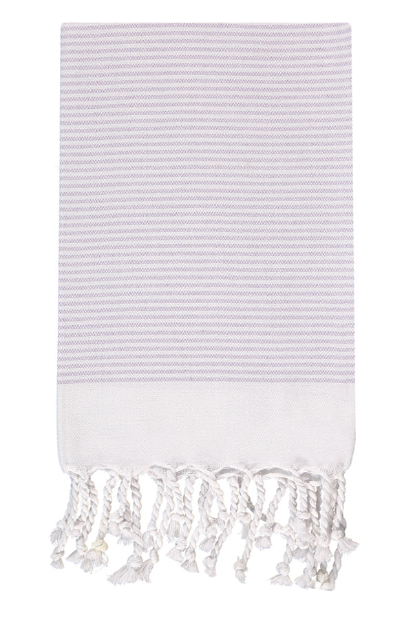 Lilac Candy Striped Hand Towel from Olive & Loom