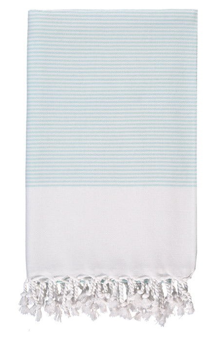 Mint Candy Striped Body Peshtemal from Olive and Loom