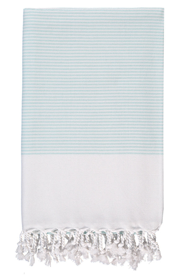 Mint Candy Striped Body Peshtemal from Olive & Loom