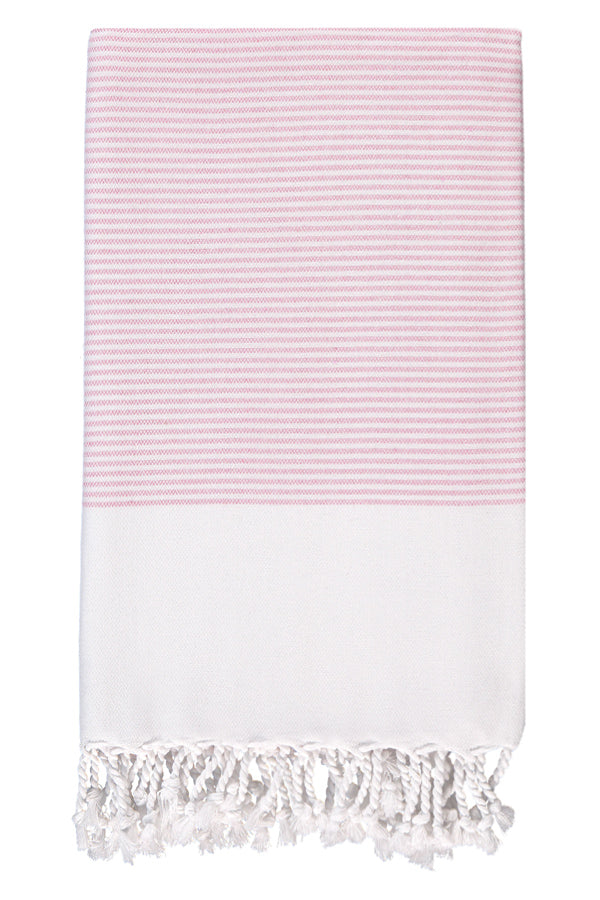 Pink Candy Striped Body Peshtemal from Olive & Loom