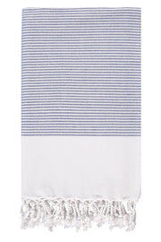Sapphire Candy Striped Body Peshtemal from Olive & Loom