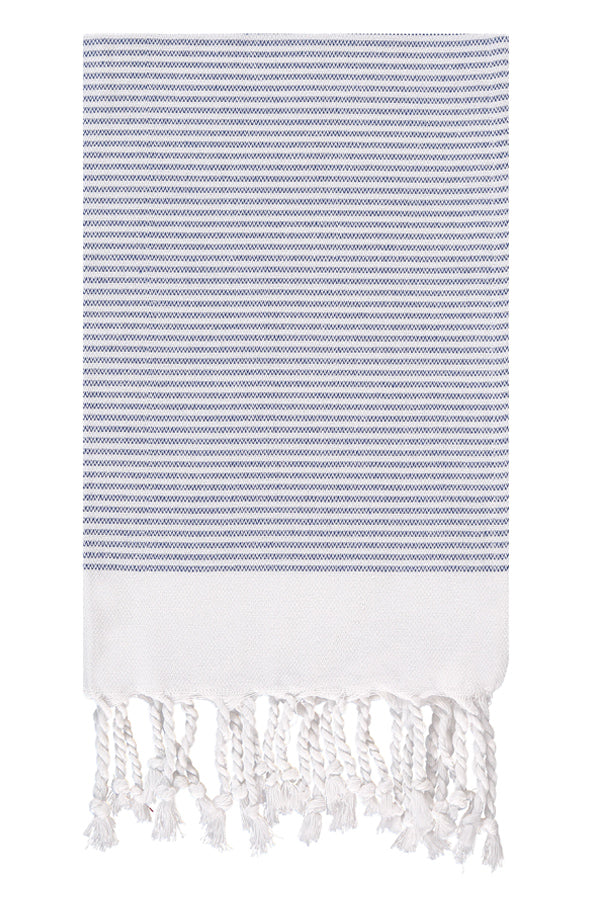 Sapphire Candy Striped Hand Peshtemal from Olive & Loom