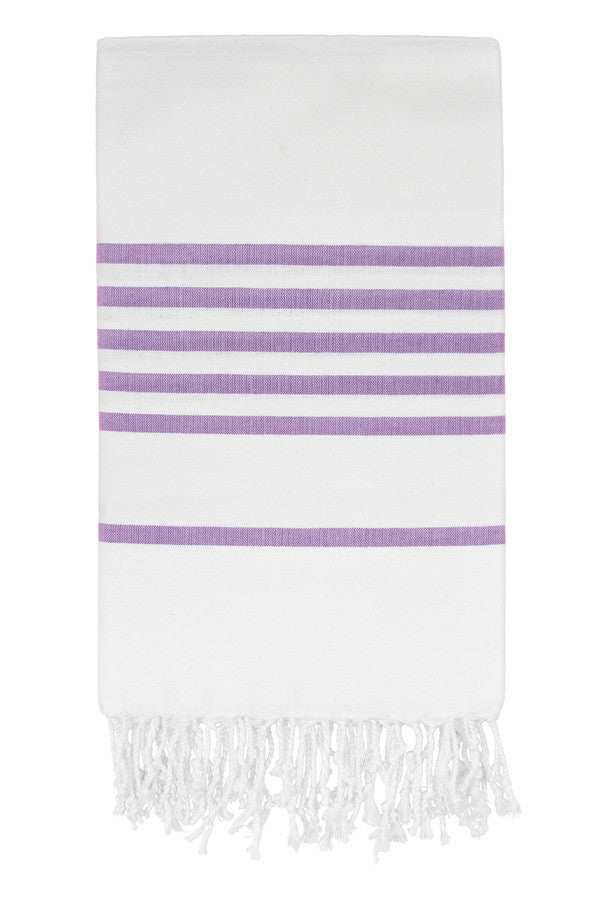 Candy Stripe Peshtemal in Lavender from Olive and Loom