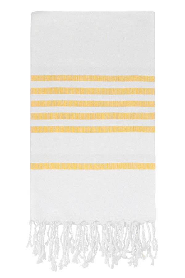 Candy Stripe Peshtemal in Yellow from Olive and Loom