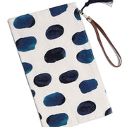Clutch with Indigo Spot print from Olive & Loom