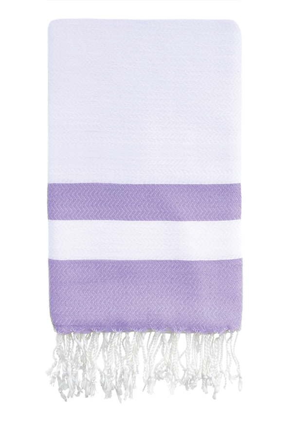 Cotton & Bamboo Body Peshtemal in Lavender from Olive and Loom