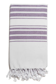 Hampden Body Towel in Purple from Olive & Loom