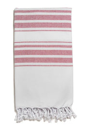 Hampden Body Towel in Vermilion from Olive & Loom
