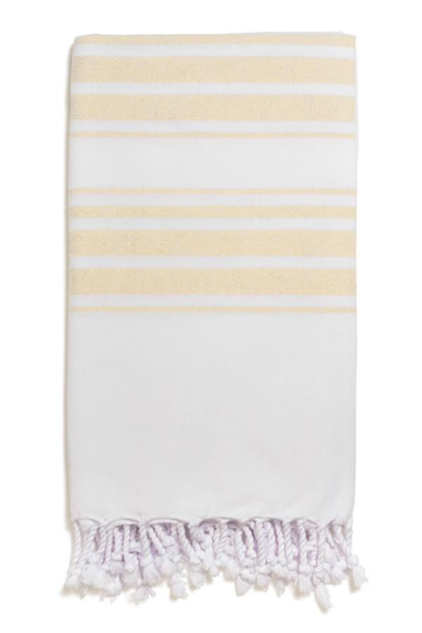 Hampden Body Towel in Yellow from Olive & Loom