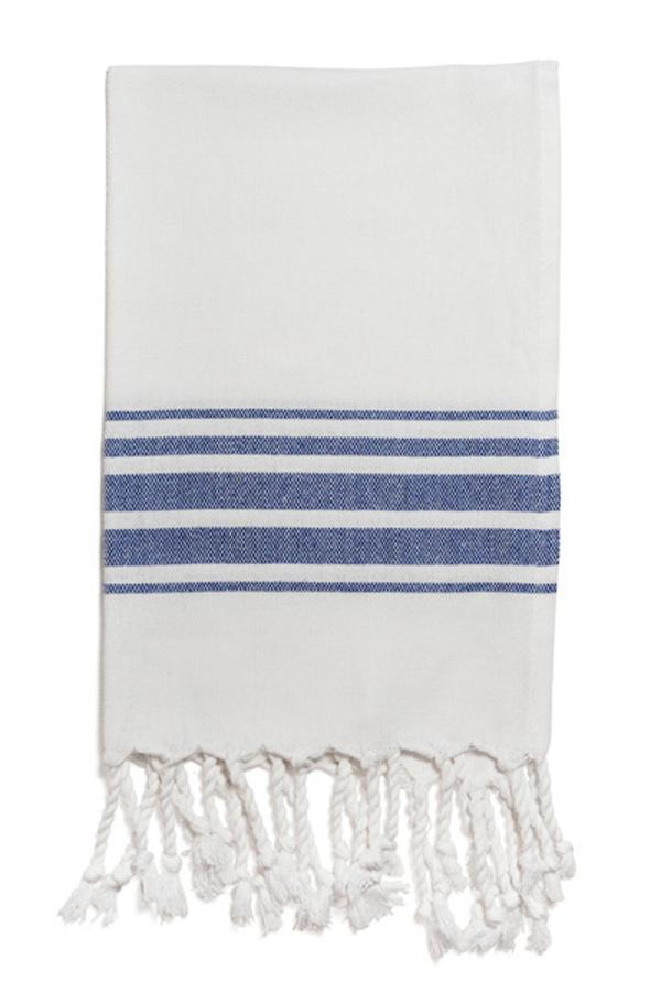 Hampden Hand Towel in Navy from Olive & Loom