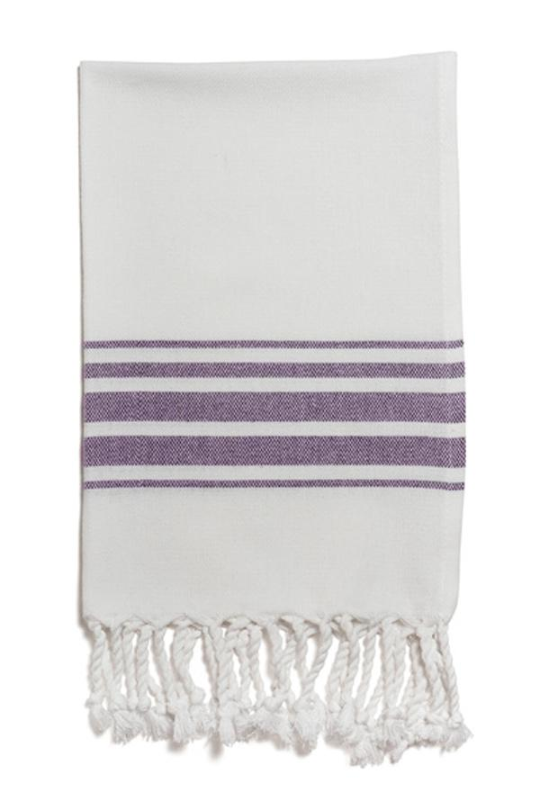 Hampden Hand Towel in Purple from Olive & Loom